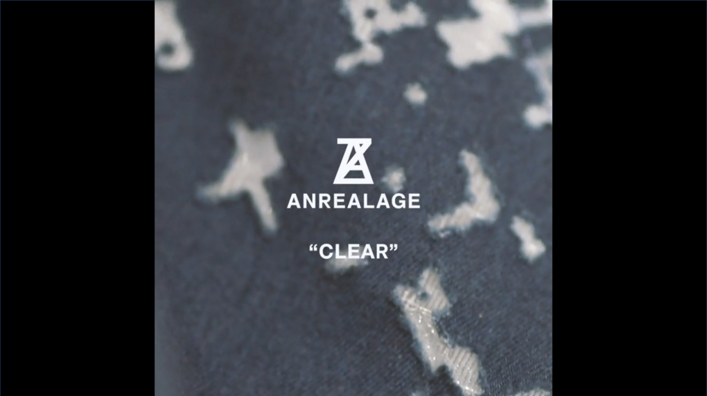 """ANREALAGE 19SS COLLECTION """"CLEAR"""""""